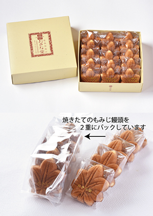 もみじ饅頭15個入(こしあん 日持ちタイプ)